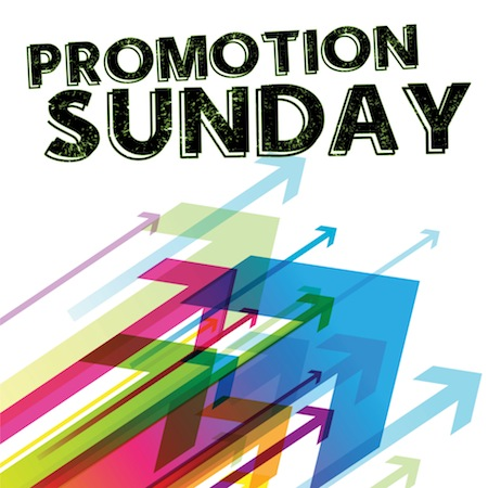 promotion sunday announcement
